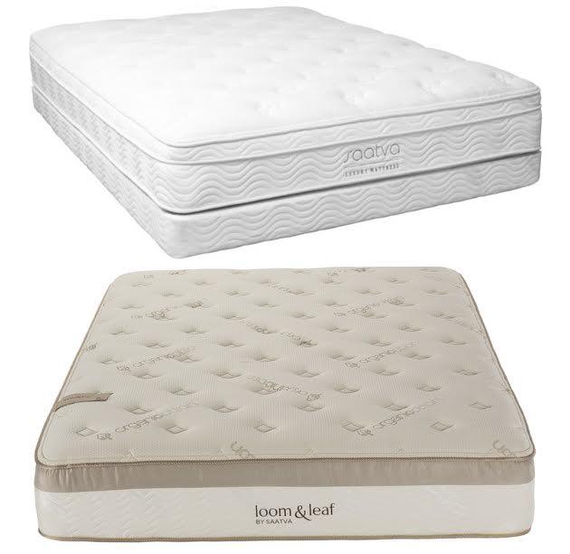 saatva mattress vs loom and leaf beddingvs